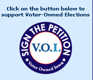 Click on the button below to support Voter-Owned Elections